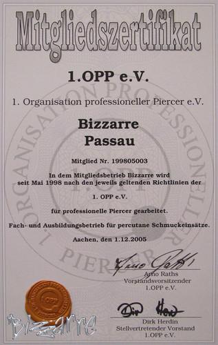 Fachstudio für Piercings - Zertifikate/Schulungen